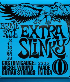 Ernie Ball Cordes de Guitare électrique, Extra Slinky, 08-38, Nickel-nl