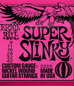 Ernie Ball Cordes de Guitare électrique, Super Slinky, 09-42, Nickel-nl