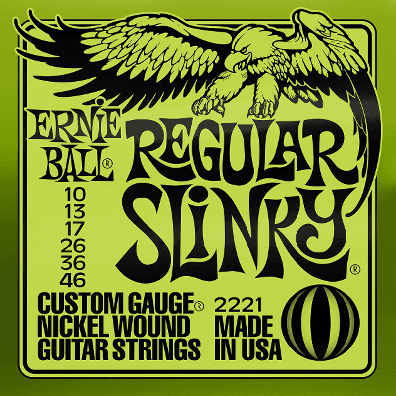 Ernie Ball Cordes de Guitare électrique, Regular Slinky, 10-46, Nickel-nl