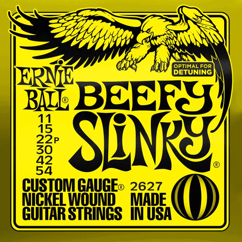 Ernie Ball Cordes de Guitare électrique, Beefy Slinky, 11-54, Nickel
