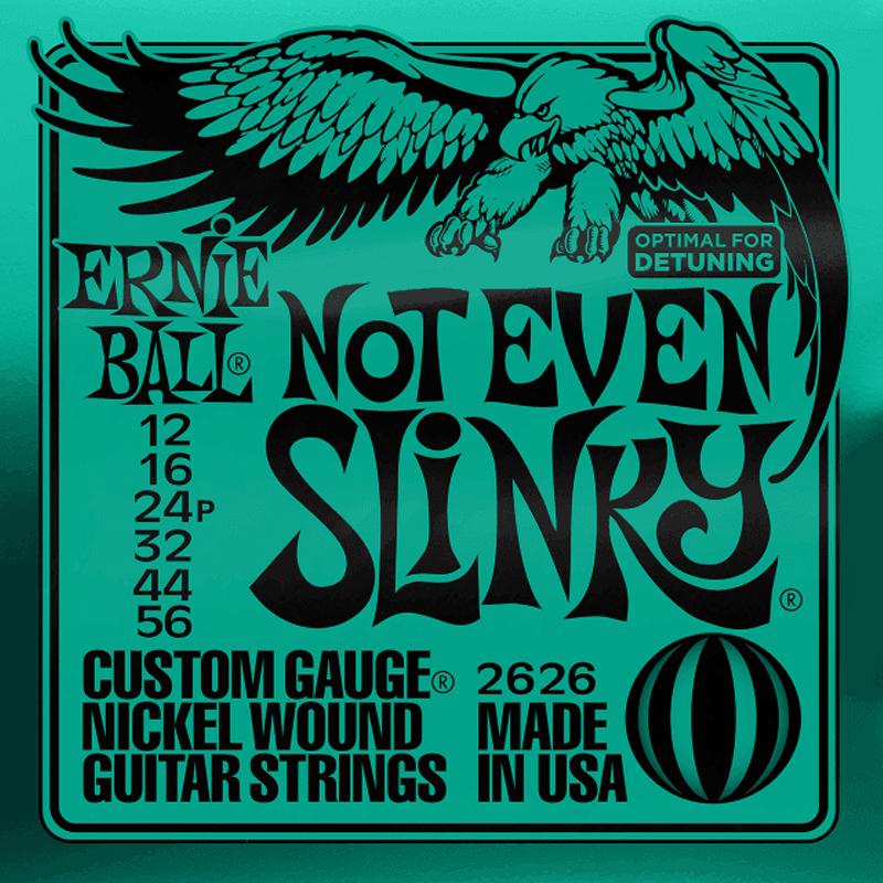 Ernie Ball Cordes de Guitare électrique, Not Even Slinky, 12-56, Nickel