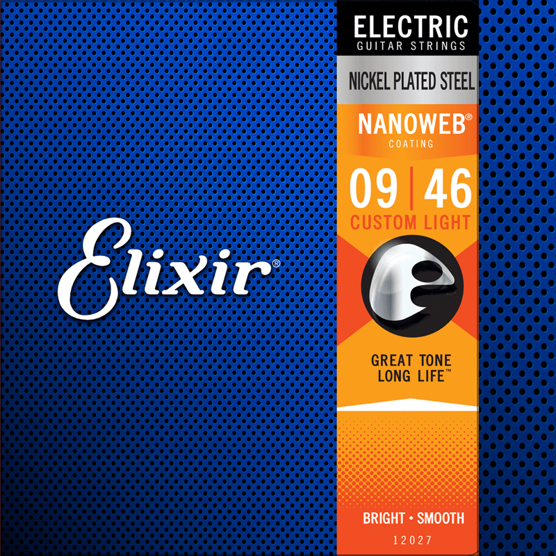 Elixir Cordes de Guitare électrique, 12027, 09-46, Nanoweb Nickel