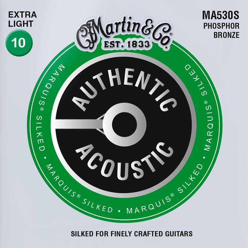 Martin Guitars MA530S Acoustic SP 92/8 Phosphor Bronze Silked Extra Light 10-47