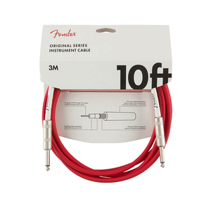 "Fender Original Series câble pour guitare ""Fiesta Red"" 3 m"