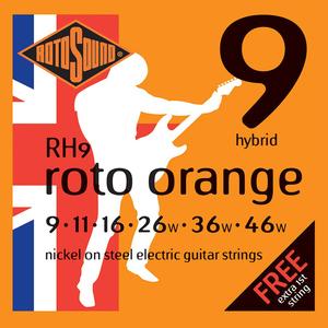 Rotosound RH9 Cordes de Guitare électrique, Hybrid, 09-46, Nickel