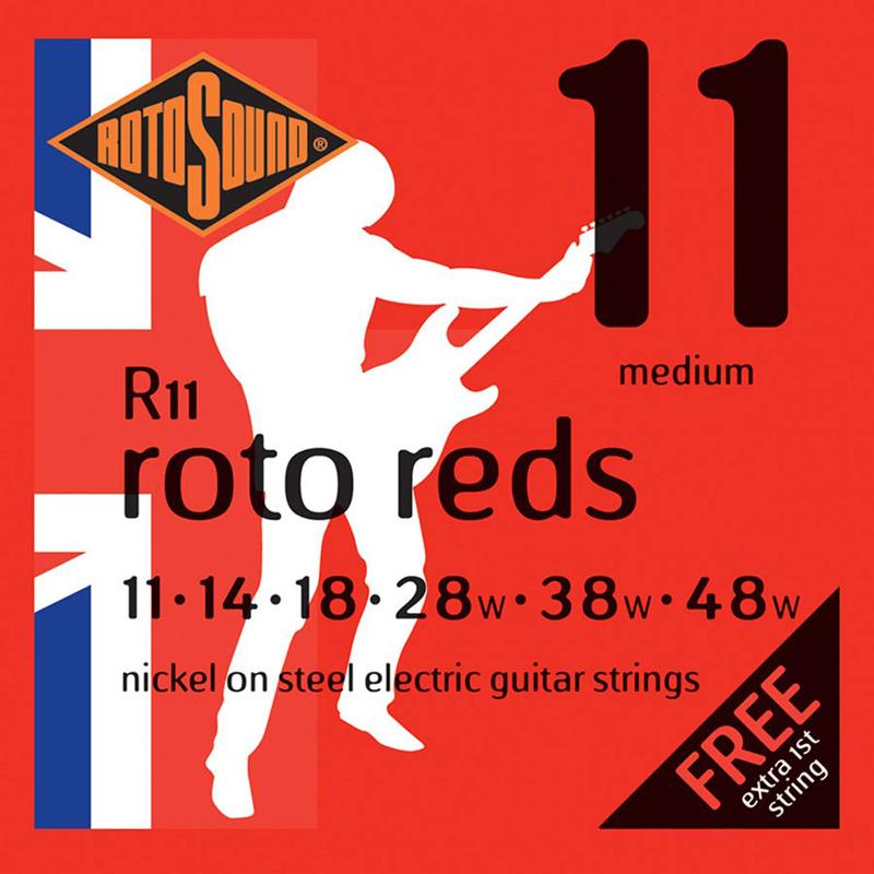 Rotosound R11 Cordes de Guitare électrique, Medium, 11-48, Nickel