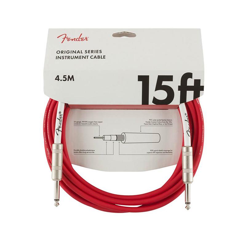 "Fender Original Series câble pour guitare ""Fiesta Red"" 4,5 m"