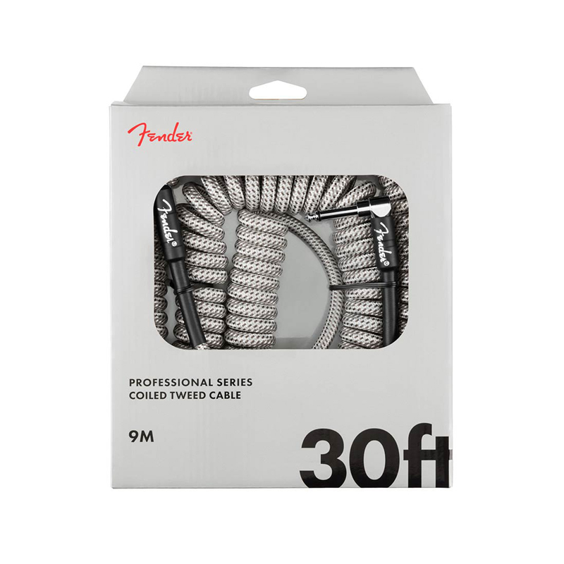 """Fender Professional Coil Cable, câble pour guitare """"WhiteTweed"""" 9m"""