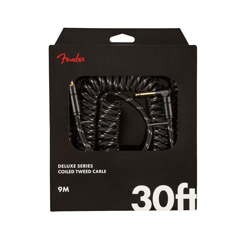 "Fender Deluxe Coil Cable, câble pour guitare "" Black Tweed"" 9m-nl"