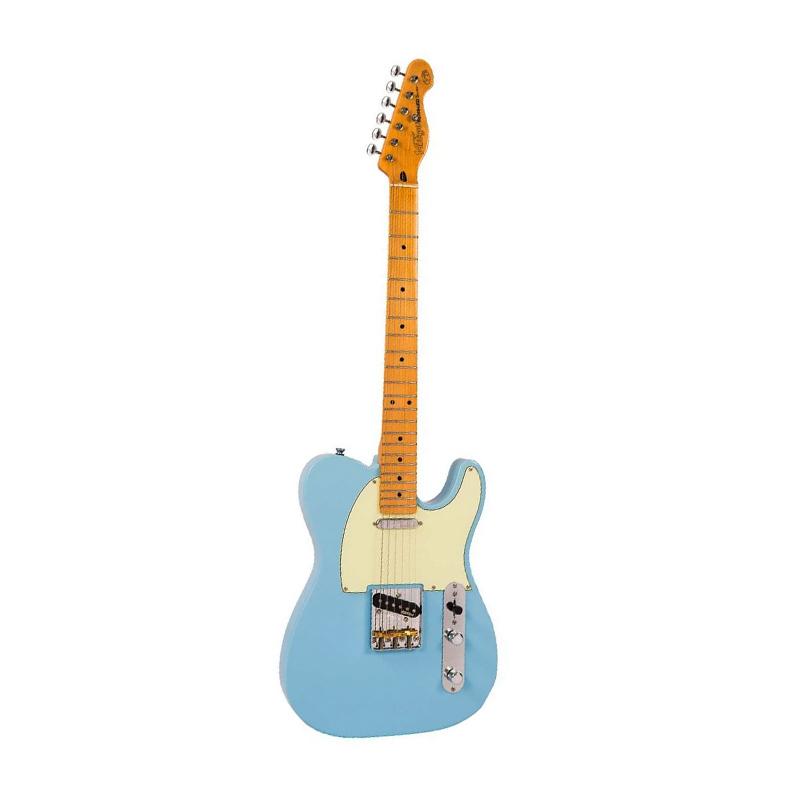 Vintage V75 Reissued, Laguna Blue, guitare électrique-nl