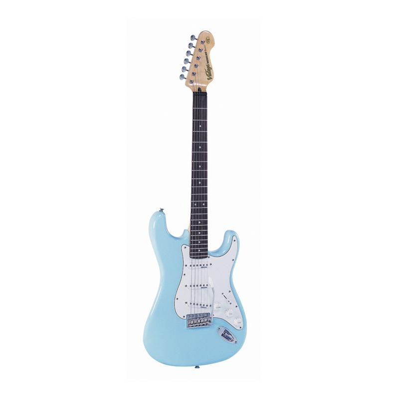 Vintage V6 Reissued, Laguna blue, guitare électrique
