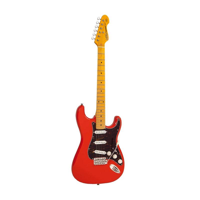 Vintage V6M Reissued, Firenza Red, guitare électrique-nl