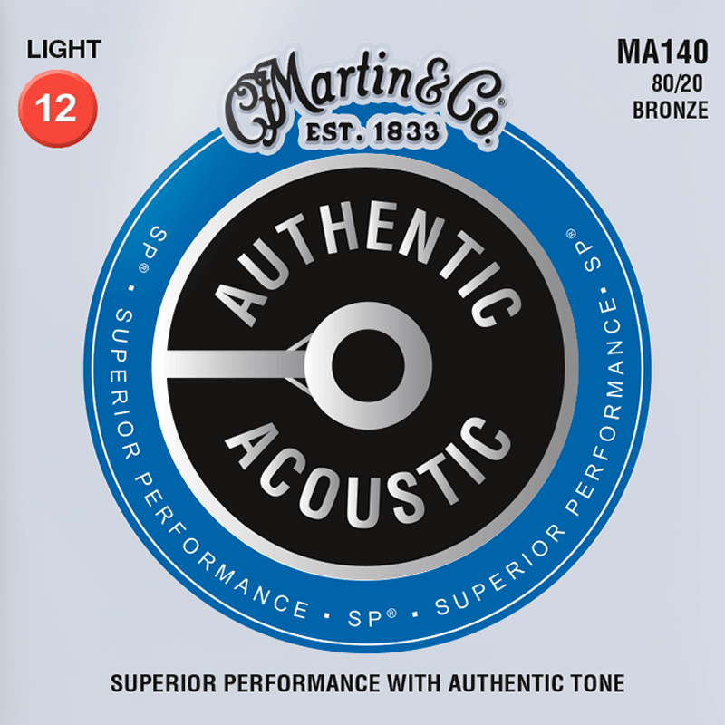 Martin Guitars MA140 Acoustic SP 80/20 Bronze Light 12-54